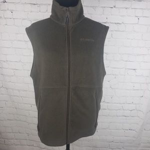 Columbia Zip Up Fleece Vest